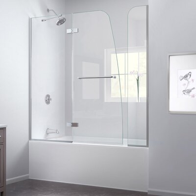 "Aqua Ultra 58"" x 60"" Pivot Hinged Tub Door with Hardware Product Photo"