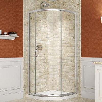 Solo Frameless Shower Enclosure and SlimLine Shower Base Product Photo