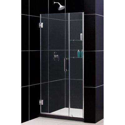 """UniDoor 72"""" x 40"""" Pivot Frameless Hinged Shower Door Product Photo"""
