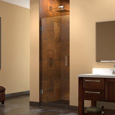 """UniDoor 72"""" x 28"""" Pivot Frameless Hinged Shower Door Product Photo"""