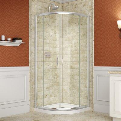 Prime Frameless Shower Enclosure and SlimLine Shower Base Product Photo