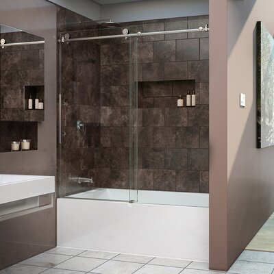 "Enigma-X 62"" x 59"" Sliding Frameless Tub Door Product Photo"