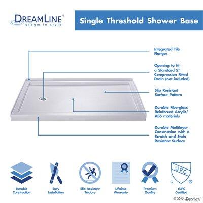 Tile Redi Single Curb Square Shower Base Amp Reviews Wayfair
