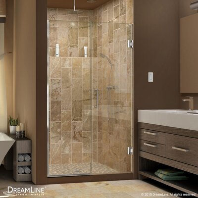 "UniDoor Plus 72"" x 46.5"" Pivot Hinged Shower Door with Hardware Product Photo"