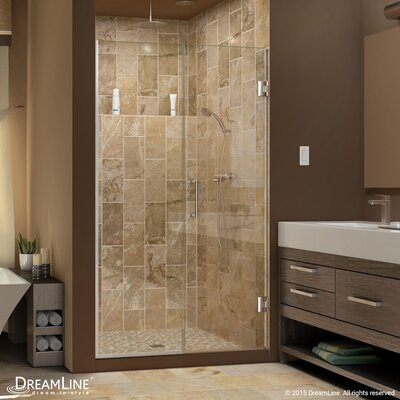 "UniDoor Plus 72"" x 58"" Pivot Hinged Shower Door with Hardware Product Photo"