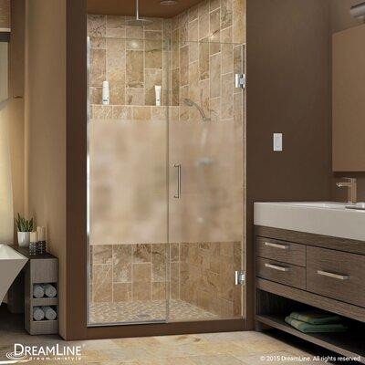 """UniDoor Plus 72"""" x 46"""" Pivot Hinged Shower Door with Hardware Product Photo"""