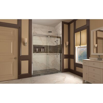 "Duet 74.75"" x 60"" Sliding Frameless Shower Product Photo"