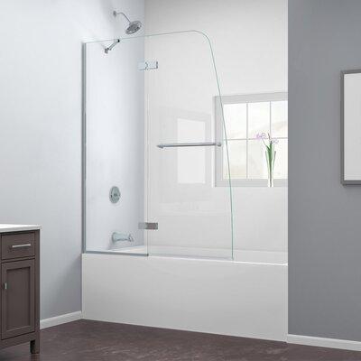 "Aqua Ultra 58"" x 48"" Pivot Frameless Hinged Tub Door Product Photo"