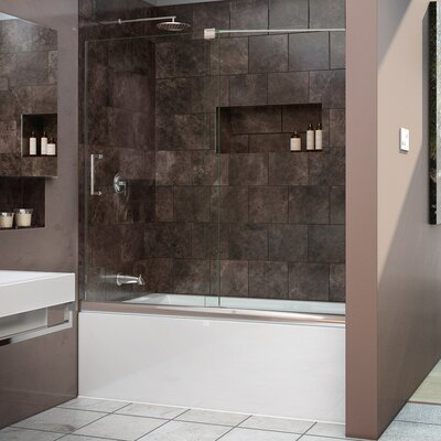 "Mirage 58"" x 60"" Sliding Frameless Tub Door Product Photo"