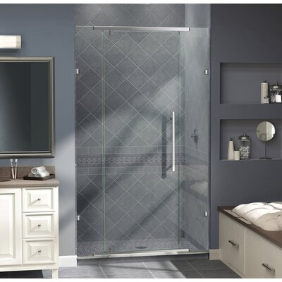 "Vitreo 76"" x 58"" Pivot Frameless Pivot Shower Door Product Photo"