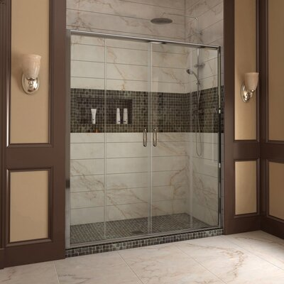 "Visions 72"" x 60"" Sliding Frameless Shower Door Product Photo"