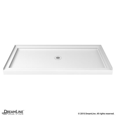 "SlimLine 32"" by 60"" Single Threshold Shower Base Center Drain Product Photo"