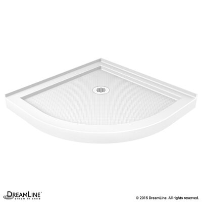 "SlimLine 38"" by 38"" Quarter Round Shower Tray Product Photo"