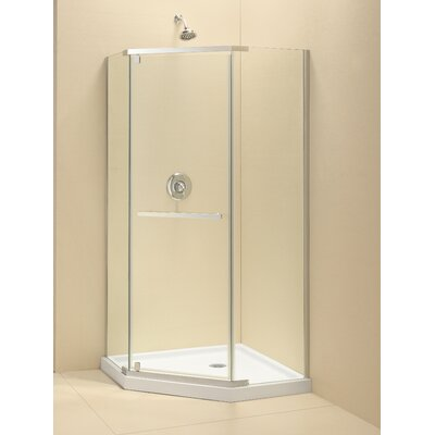 Prism 38-1/8 in. W x 38-1/8 in. D x 72 in. H Pivot Shower Enclosure with Hardware Product Photo