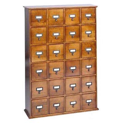 Leslie Dame Enterprises Library Style 24 Drawer Multimedia Cabinet
