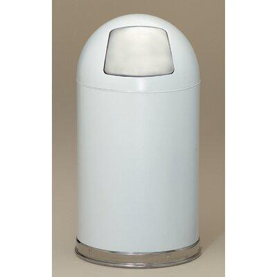 Witt Dome Top 12-Gal Metal Series Trash Can