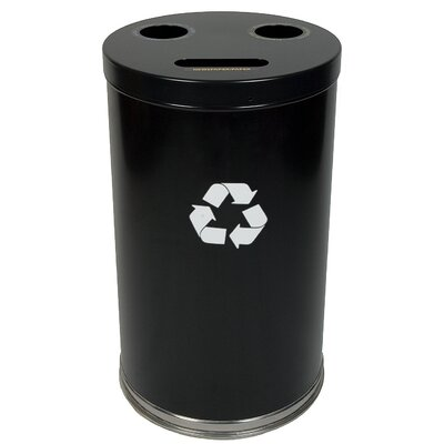 Witt Metal Recycling 33-Gal Three Opening Multi Compartment Recycling Bin