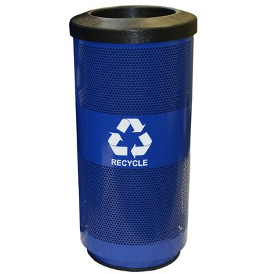 Witt Metal Recycling 20-Gal Perforated Industrial Recycling Bin