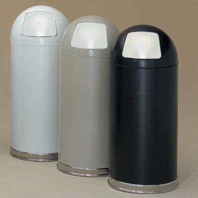 Witt Dome Top 15-Gal Metal Series Trash Can