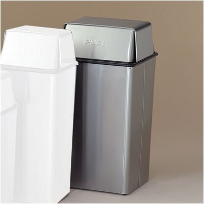 Witt Waste Watchers 21-Gal Metal Series Push Top Receptacle