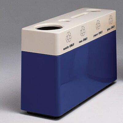 Witt Fiberglass Recycling 48-Gal Multi Compartment Recycling Bin