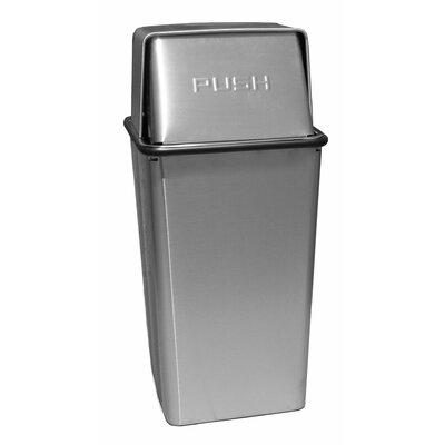 Witt Waste Watchers 13-Gal Metal Series Push Top Receptical