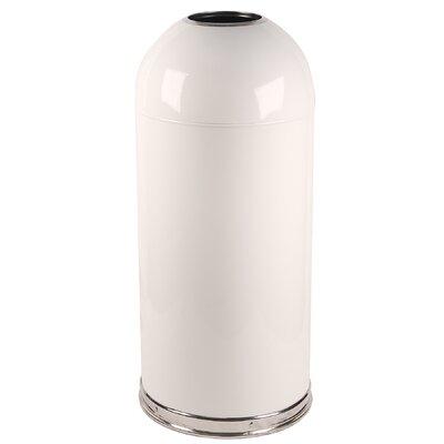 Witt 15-Gal Metal Series Open Top Trash Can
