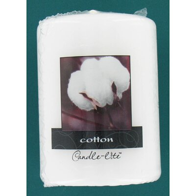 Candle-Lite White Cotton Scented Pillar Candle by Fortune Products
