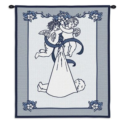 Pure Country Weavers New Angel and Baby Boy Tapestry Hanging Art
