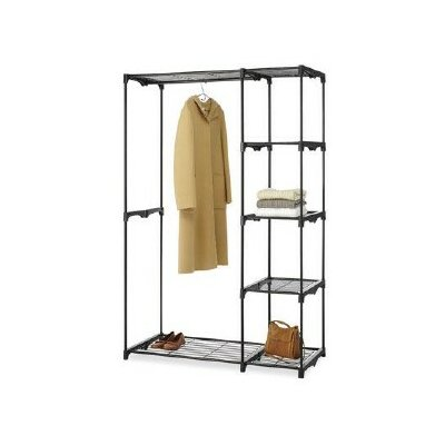 "Deluxe 19.5"" Deep Double Rod Closet Organizer (Set of 2) Product Photo"
