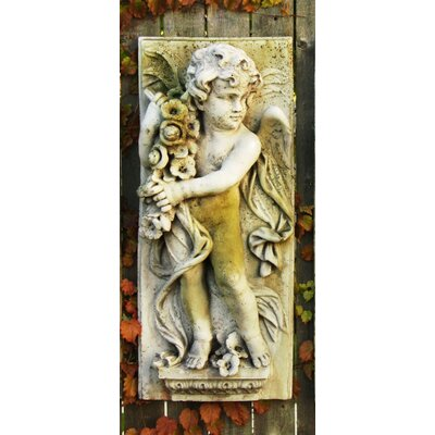 Little Boy Spring Plaque Wall Decor by OrlandiStatuary