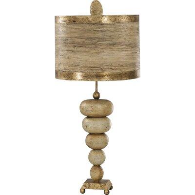 "Flambeau Lighting Retro 35"" H Table Lamp with Drum Shade"