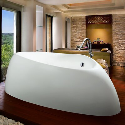 "Organic 87"" x 53"" Soaking Bathtub Product Photo"