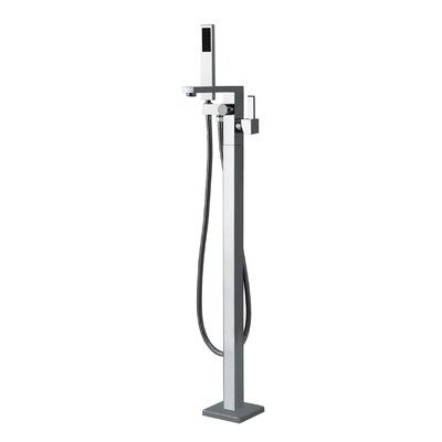 Floor Mount Tub Filler with Handshower Product Photo