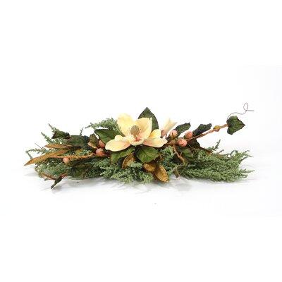 Distinctive Designs Silk Magnolia and Heather Accent Topper