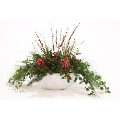 Down Home Holly Pine in Bowl by Distinctive Designs
