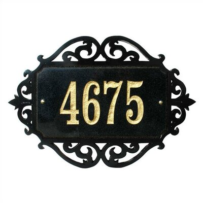 Qualarc Decorative Rectangle Address Plaque Scroll Frame