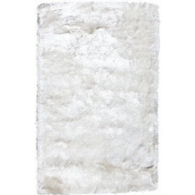 Crystal Solid White Rug by Noble House