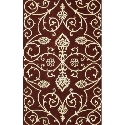 Amber Burgundy/Gold Area Rug by Noble House