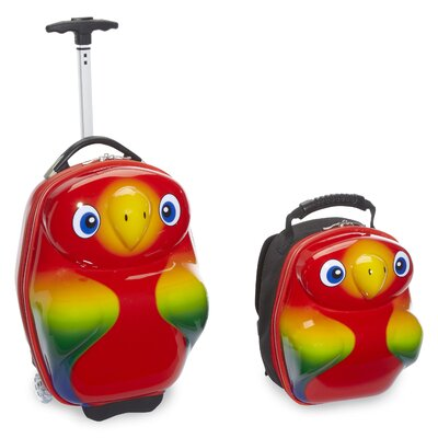 Travel Buddies 2 Piece Popo Parrot Luggage Set by TrendyKid