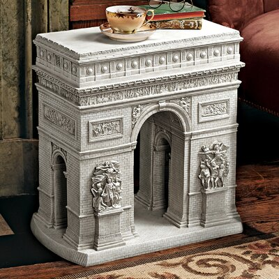 Arc De Triomphe Sculptural End Table by Design Toscano