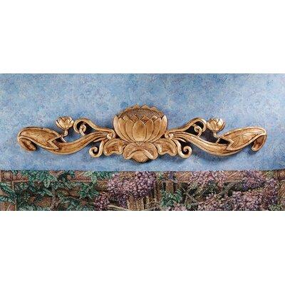 Design Toscano De Velde Water Lily Architectural Pediment Wall Décor