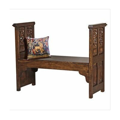 Canterbury Abbey Gothic Wood Bench by Design Toscano
