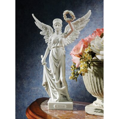Nike the Winged Goddess of Victory Bonded Marble Resin Statue by Design Toscano