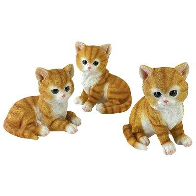 Tabby Kitten Triplets, Baby Cat Statues by Design Toscano