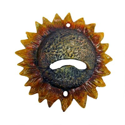 Sunny Sunflower Cast Iron Bottle Opener by Design Toscano