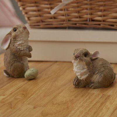 Design Toscano Garden Rabbit 3 Piece Statue Set