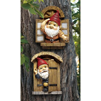Design Toscano The Knothole Gnomes Garden Welcome Tree Statue