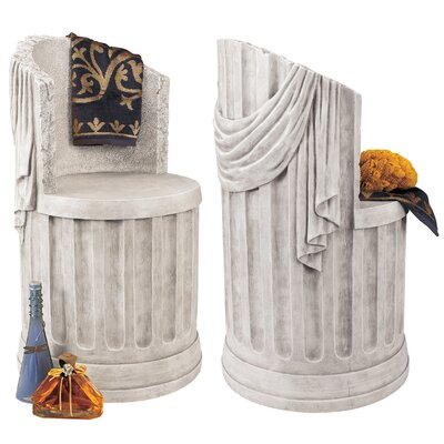 Design Toscano Baths of Caracalla Spa Stool