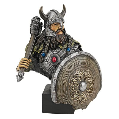 Viking Warrior with Thor's Thunder Hammer Figurine by Design Toscano